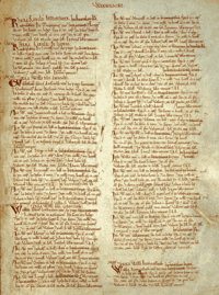 Page from Domesday Book